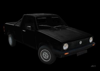 VW Rabbit Caddy 1 Typ 14D mit Dieselmotor