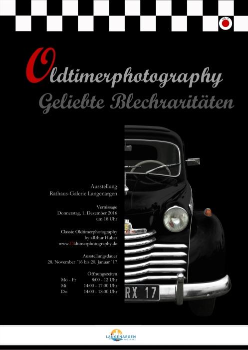 Ausstellungsplakat Oldtimerphotography - Geliebte Blechraritäten