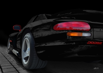Chrysler Viper RT10 in black & red