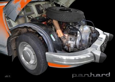 Panhard PL 17 mit 2-Zylinder Viertakt Boxermotor Poster