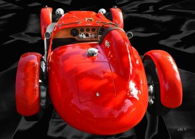 Ronart Jaguar W152 rear view in original colors