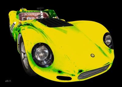 Lister Jaguar BHL 16 Poster mit Startnummer 68
