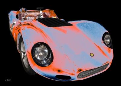 Lister Jaguar Knobbly Poster Oldtimerfotografie Rennwagen Autorennen