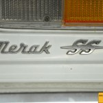 Maserati Merak SS Schriftzug im rechten Heckbereich