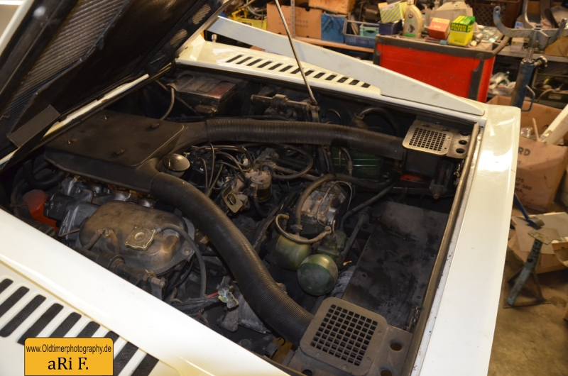 Maserati Merak SS mit 3.0 Liter V-6 Motor, Ersatzreifen wurde zum Fotoshooting entfernt
