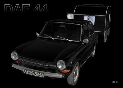 DAF 44 mit Weferlinger Wohnwagen LC9-200
