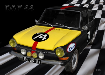 DAF 44 - 36. Rallye Monte Carlo 1967