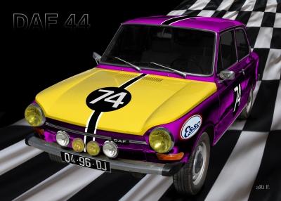 DAF 44 Rallyemeister Poster - Rally de Picardie