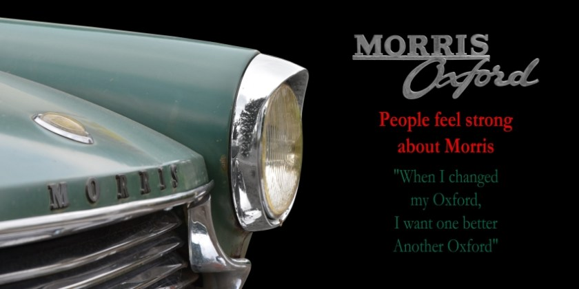 Morris Oxford Series V - Poster 80 x 40 cm