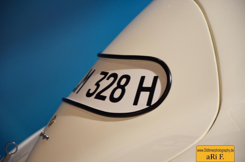 BMW 328 Le Mans Heckansicht mit KFZ-Kennzeichen