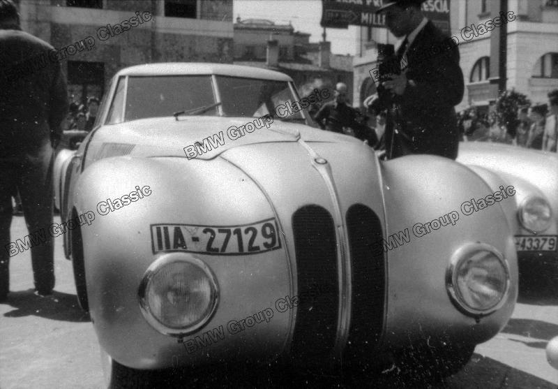 BMW 328 Mille Miglia Kamm-Rennlimousine beim I. Gran Premio Brescia delle Mille Miglia (28.04.1940)