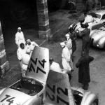 Das BMW Fahrerlager beim I. Gran Premio Brescia delle Mille Miglia 1940