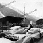 Die BMW 328 Mille Miglia an der italienischen Grenze