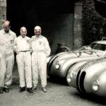 Impressionen aus dem BMW Fahrerlager in Brescia während des I. Gran Premio Brescia delle Mille Miglia (28.04.1940)