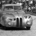 Karl Kling auf BMW 328 Kamm Rennlimousine in Hockenheim 1947