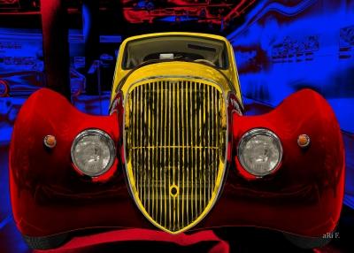 Peugeot 402 Darl'mat Cabriolet Art Poster