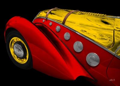 Peugeot 402 Darl'mat Cabriolet Art Deco Poster