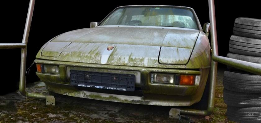 Porsche 924 Poster Rostlaube Scheunenfund Burns found