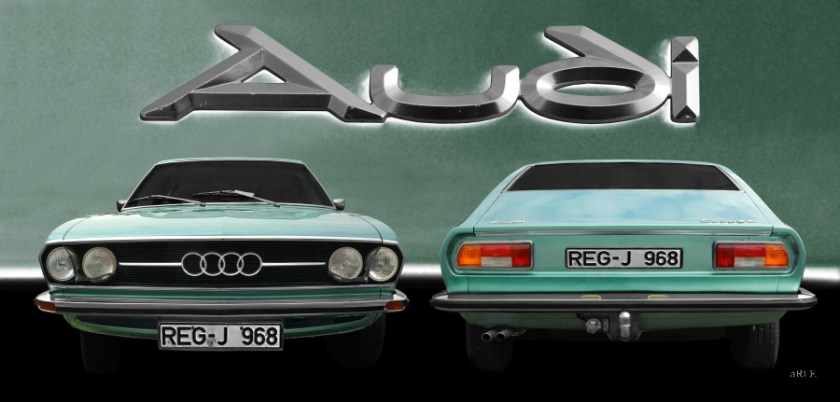 Audi 100 Coupe S Oldtimer Poster for sale