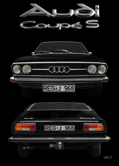 Audi 100 Coupé SClassic Car Poster Advertising