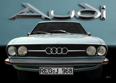 Audi 100 Coupe S Veteran Car Poster for sale