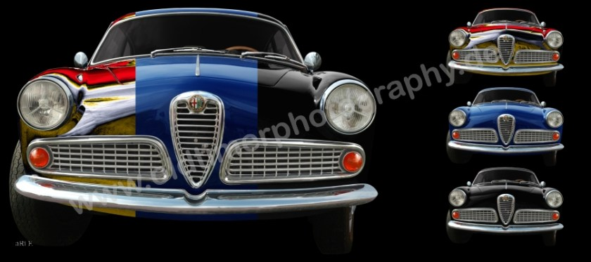 Alfa Romeo Giulietta Sprint aRt-Car by aRi F. in Langenargen