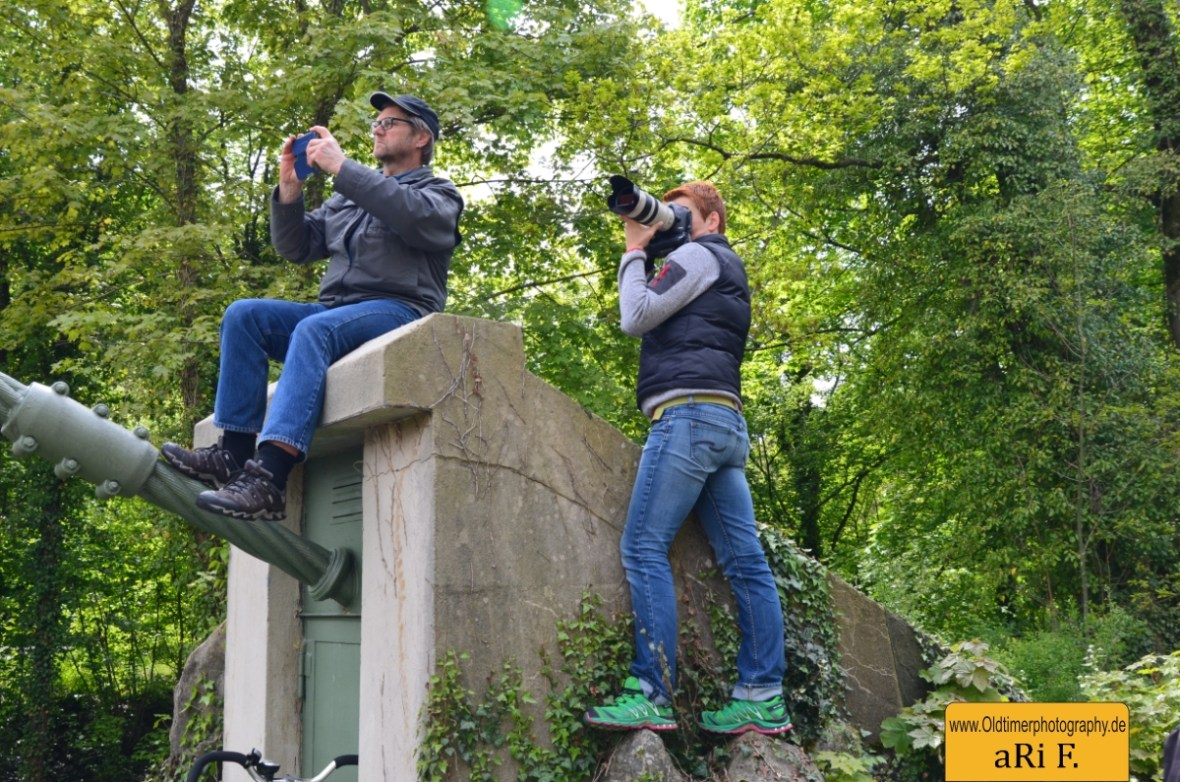 Bodensee Klassik Hängebrücke Langenargen mit Fotografen-Kollegen