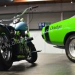 Dodge Charger RT mit Harley-Davidson auf der Klassikwelt Bodensee