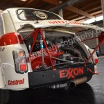Fiat Abarth 500 Heckansicht mit Rennmotor