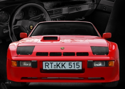 Porsche 924 Carerra Advertising Werbung Publicité