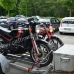 Yamaha Motorräder auf dem WEg zur Klassikwelt Bodensee 2017