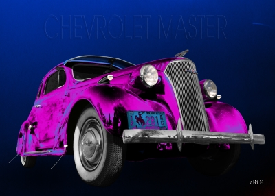 Chevrolet Master Business Coupe 1937 Poster