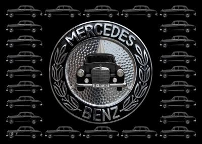 Mercedes-Benz 190 Db Ponton W 121 mit Mercedes-Logo