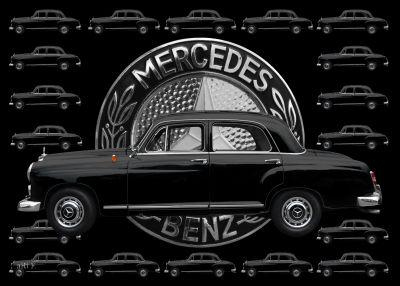 Mercedes-Benz 190 Db mit Mercedes-Logo