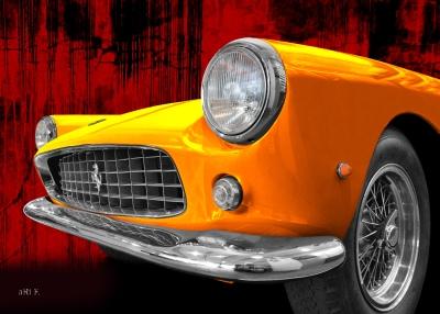 Ferrari 250 GT Coupé Frontdetail Poster for sale