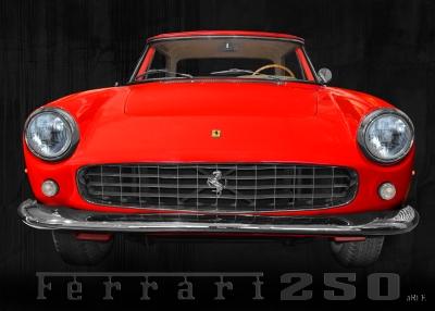 Ferrari 250 GT Coupé Poster in Originalfarbe