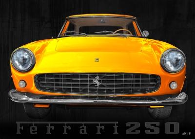 Ferrari 250 GT Coupé Poster in yellow