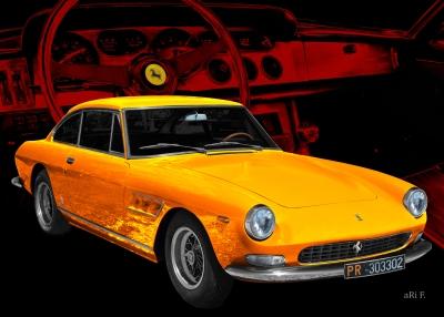Ferrari 330 GT Serie 2 Poster von 1965-1967