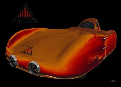 Lloyd Weisse Maus deutscher Weltrekordwagen