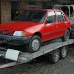 Peugeot 205 GRD auf Autohänger