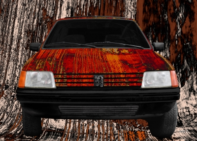 Peugeot 205 Art Car Poster by Ohmyprints.com