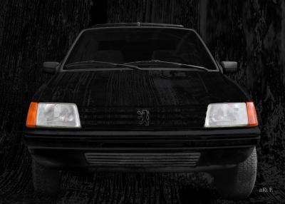 Peugeot 205 Art Car in darkblack