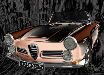 Alfa Romeo 2600 Spider Art Car by aRi F. in Langenargen