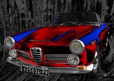 Alfa Romeo 2600 Spider technische Daten Poster