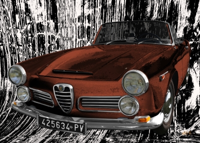 Alfa Romeo 2600 Spider Art Car by aRi F. in Langenargen