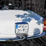 Alfa Romeo 2600 Spider mit Werbung von 1965