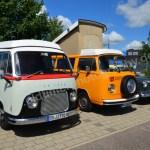 Ford FK 1250 und VW Bus T2 Wohnmobil beim Hymer Museumsfest 2017
