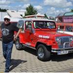 Jeep Wrangler mit Wohnwagen beim Hymer Museumsfest 2017