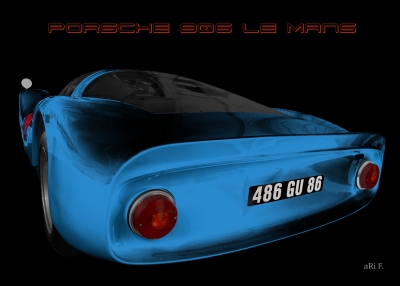 Porsche 906 Le Mans Carrera 6 in blue color