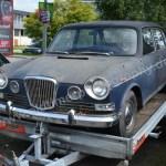 Wolseley 18-85 auf Autoanhänger vor Bearbeitung in Photoshop